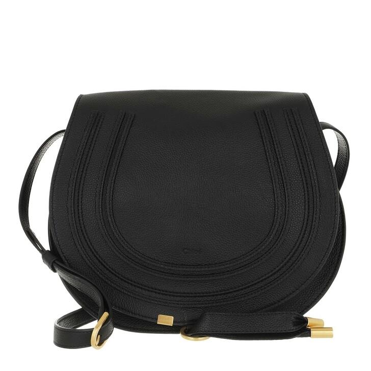 bags, Chloé, Marcie Medium Saddle Bag Grained Leather Black
