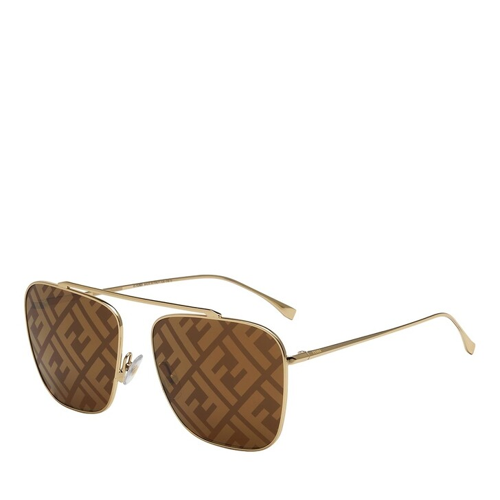 Sonnenbrille, Fendi, FF 0406/S Sunglasses Gold Brown