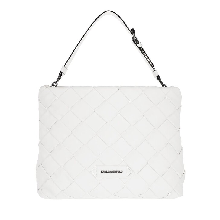Handtasche, Karl Lagerfeld, Kushion Braid Tote White