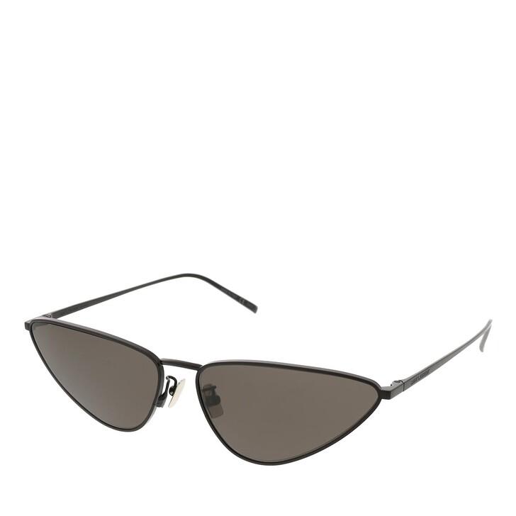 sunglasses, Saint Laurent, SL 487-001 63 Sunglass Woman Metal Black-Black-Black
