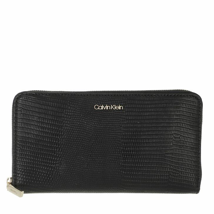 wallets, Calvin Klein, CK Must Z/A Wallet XL Lizard CK Black