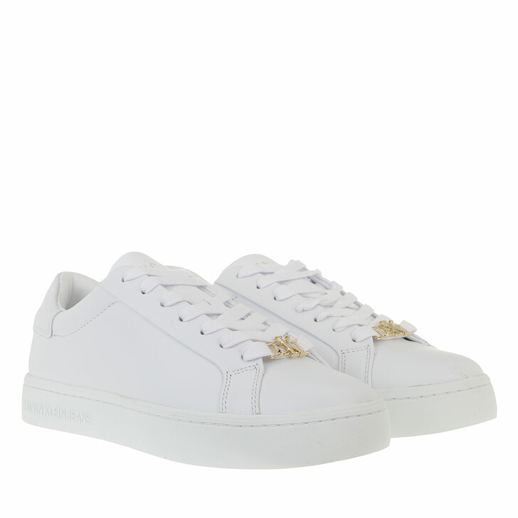 Schuh, Calvin Klein, Cupsole Lace Up Sneakers Leather White
