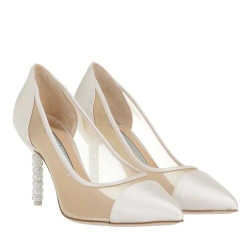 sophia webster -  Pumps & High Heels - Jasmine Crystal Mid Pump Satin - in beige - für Damen