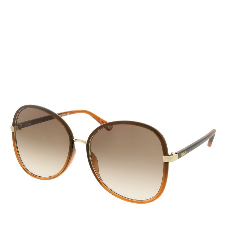 sunglasses, Chloé, CH0030S-005 60 Sunglass Woman Injection Brown-Brown-Brown