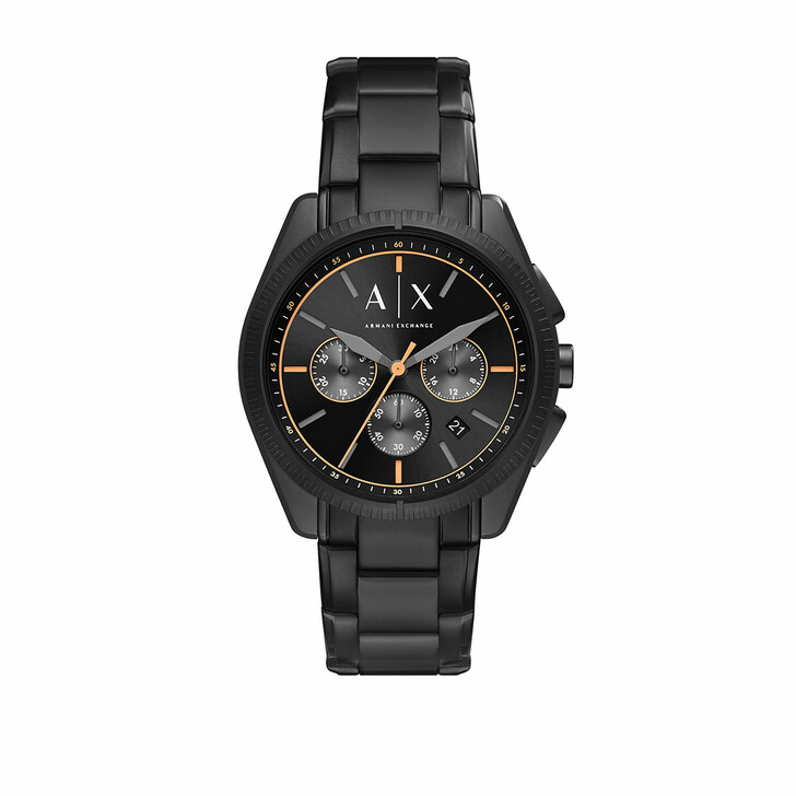 Uhr, Armani Exchange, Men Chronograph Stainless Steel Watch Black