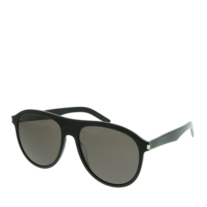 Sonnenbrille, Saint Laurent, SL 432 SLIM-001 57 Sunglasses Man Black