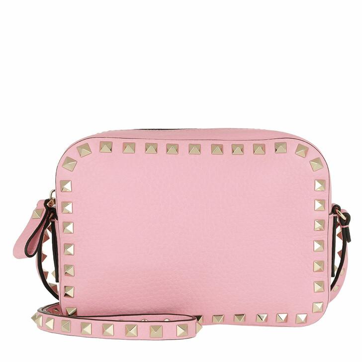 Handtasche, Valentino Garavani, Rockstud Camera Crossbody Bag Light Stone Absoulte Rose