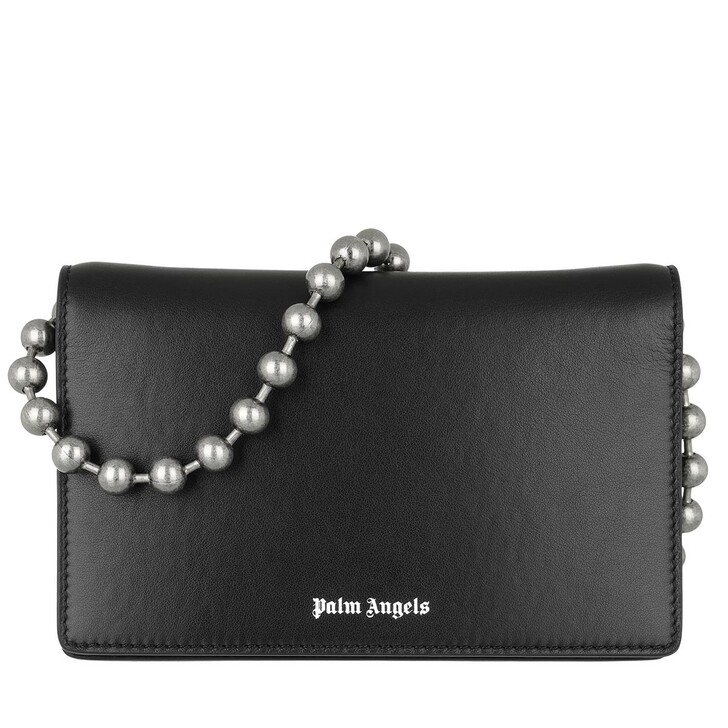 wallets, Palm Angels, Balls Chain Wallet&Chain   Black White