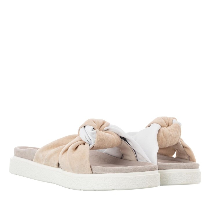 Schuh, INUIKII, Knot Leather Sandals White