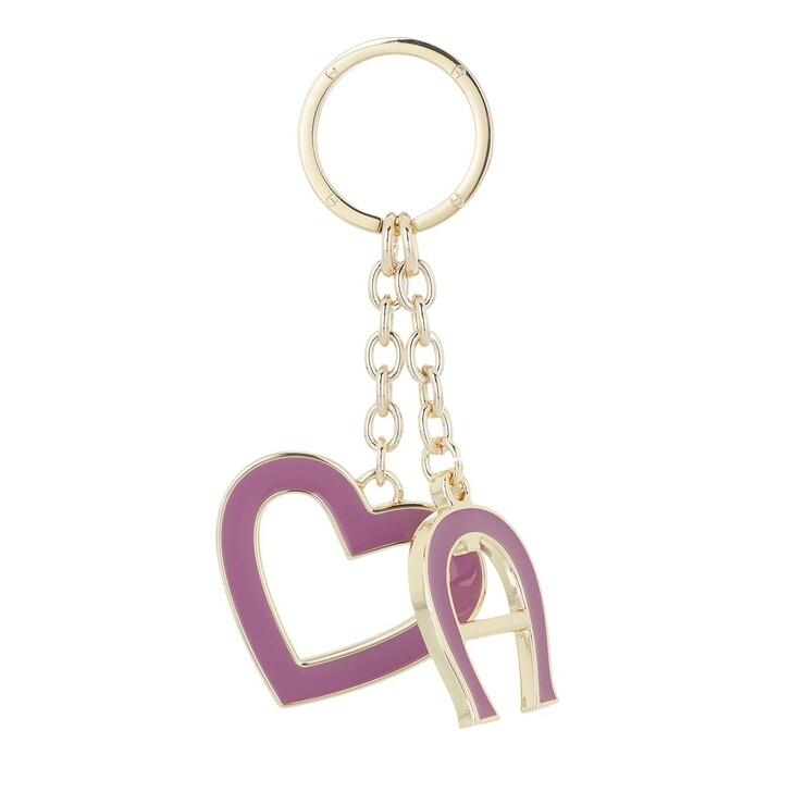 keyrings, AIGNER, Fashion Keychain Heart Amethyst