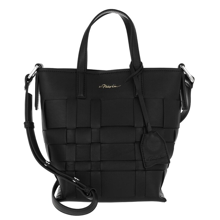 Handtasche, 3.1 Phillip Lim, Odita Mini Modern Lattice Bucket Bag Black