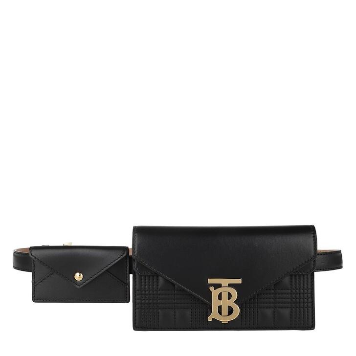 Handtasche, Burberry, Small Monogram Belt Bag Black