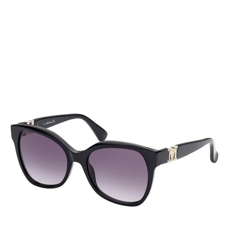 Sonnenbrille, Max Mara, MM0014 Shiny Black /Gradient Smoke