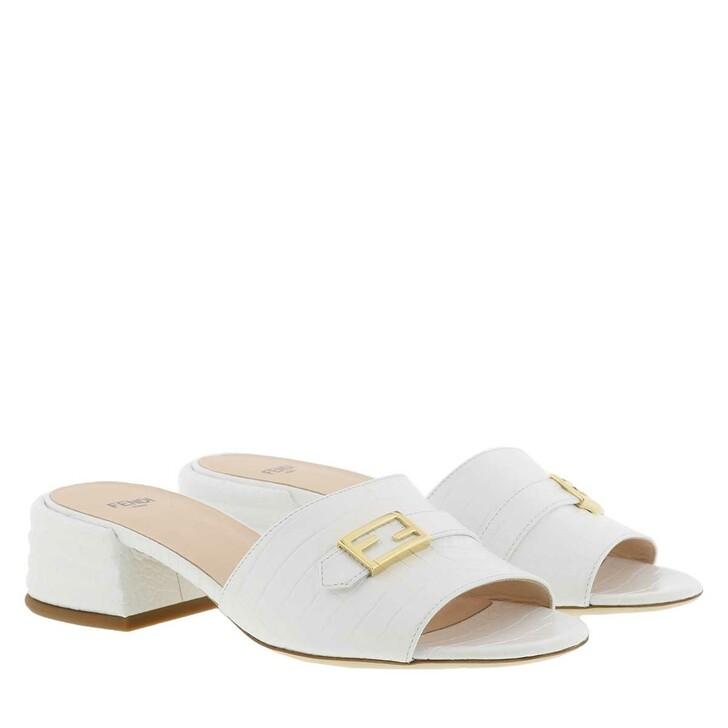 Schuh, Fendi, Slipper Leather White