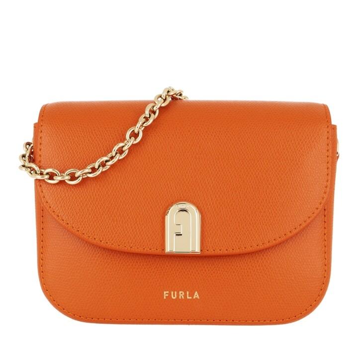 Handtasche, Furla, 1927 Mini Crossbody 17 Chain Orange