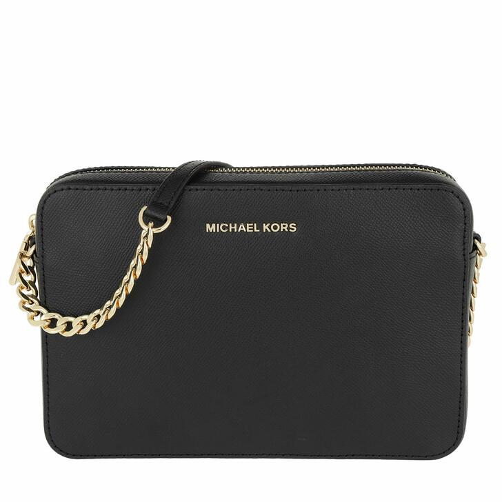 Handtasche, MICHAEL Michael Kors, Jet Set Travel LG EW Crossbody Gold Black
