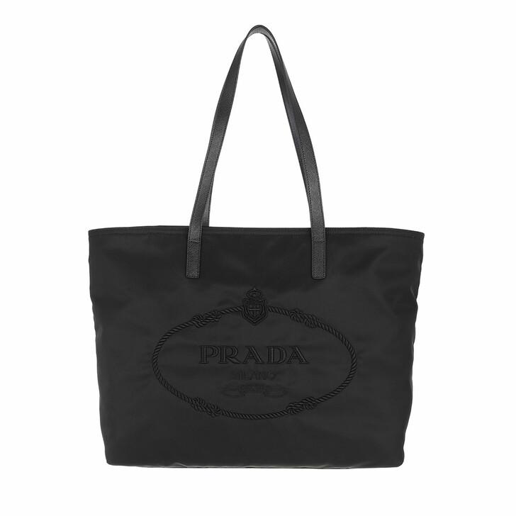 bags, Prada, Shopping Bag Nylon Black