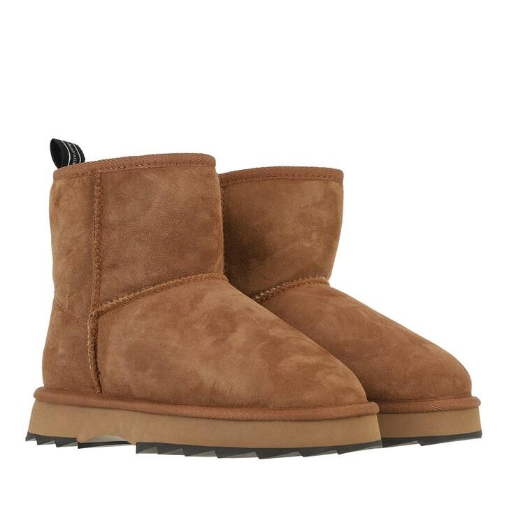 shoes, EMU Australia, Sharky Mini Boot Sheepskin Chestnut/Black