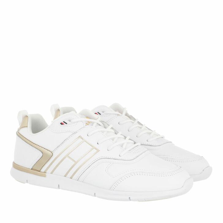 Schuh, Tommy Hilfiger, Metallic Lightweight Sneakers White Gold
