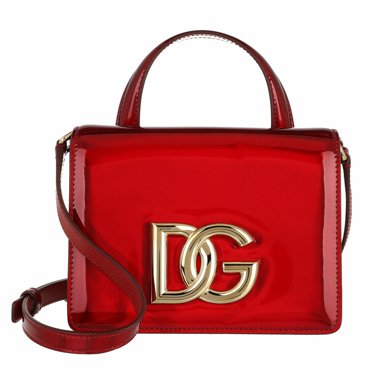 bags, Dolce&Gabbana, Strobo Top Handle Bag Leather Red