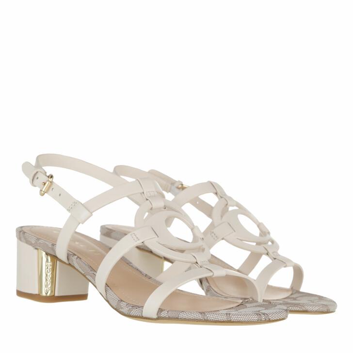 shoes, Coach, Edina Leather Sandal Chalk