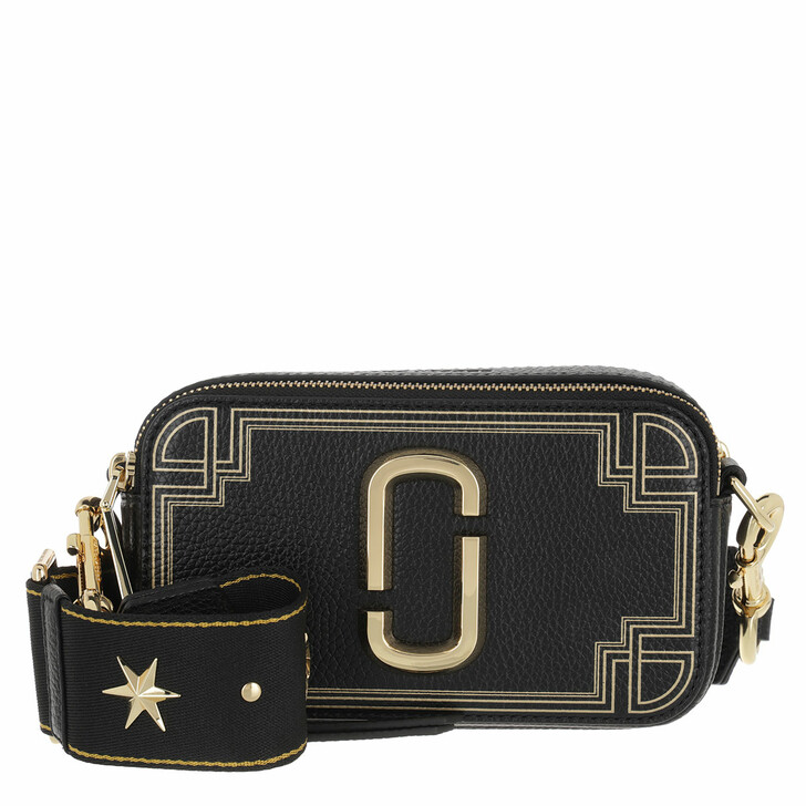 Handtasche, Marc Jacobs, The Snapshot Gilded Leather Black/Multi