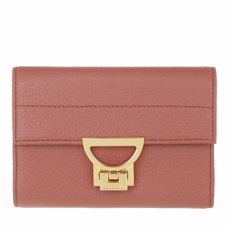 wallets, Coccinelle, Arlettis Wallet Grainy Leather  Cinnamon