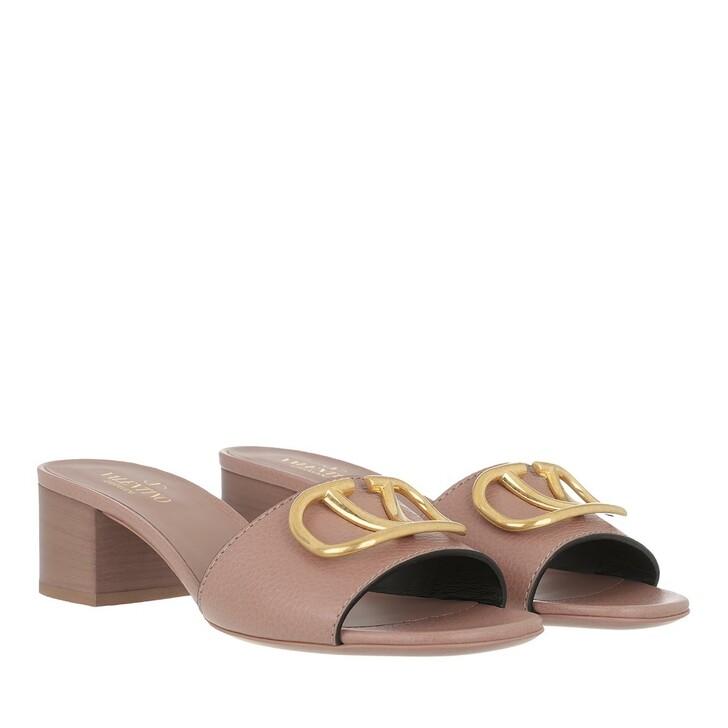 shoes, Valentino Garavani, V Mules Leather Rose