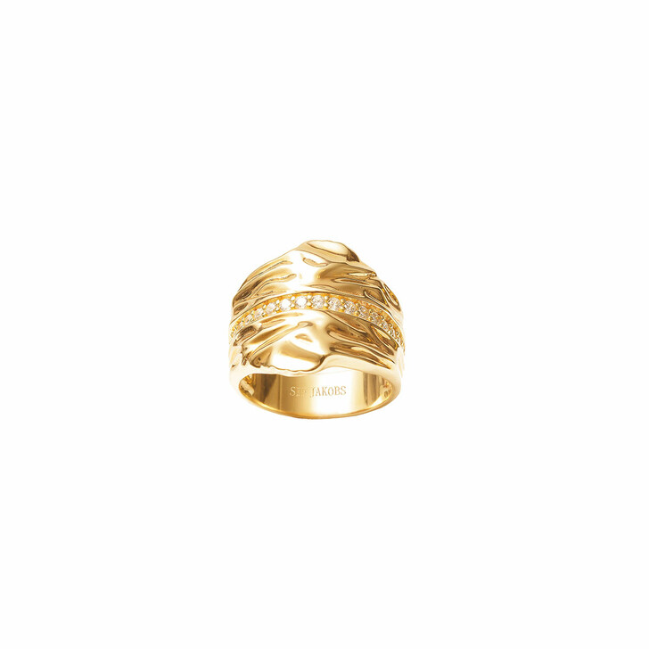 Ring, Sif Jakobs Jewellery, Vulcanello Grande Ring Yellow Gold