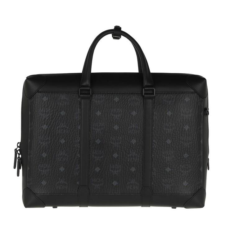 Handtasche, MCM, Soft Berlin Visetos Tote Large   Black