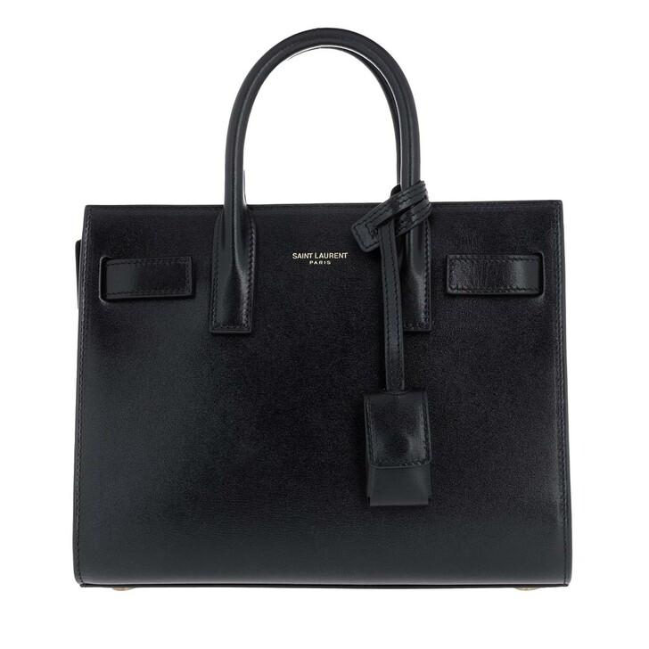bags, Saint Laurent, Shoulder Bag Leather Black