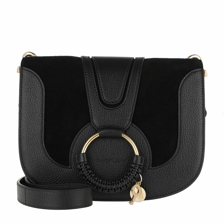Handtasche, See By Chloé, Hana Crossbody Suede Smooth Small Black