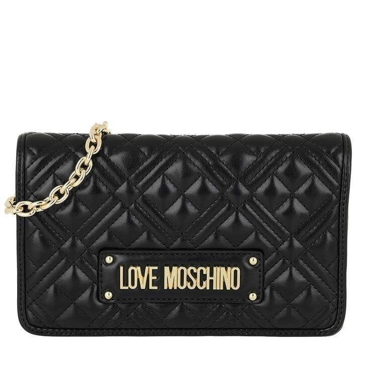 Handtasche, Love Moschino, Borsa Quilted Nappa Crossbody Bag Chain Nero