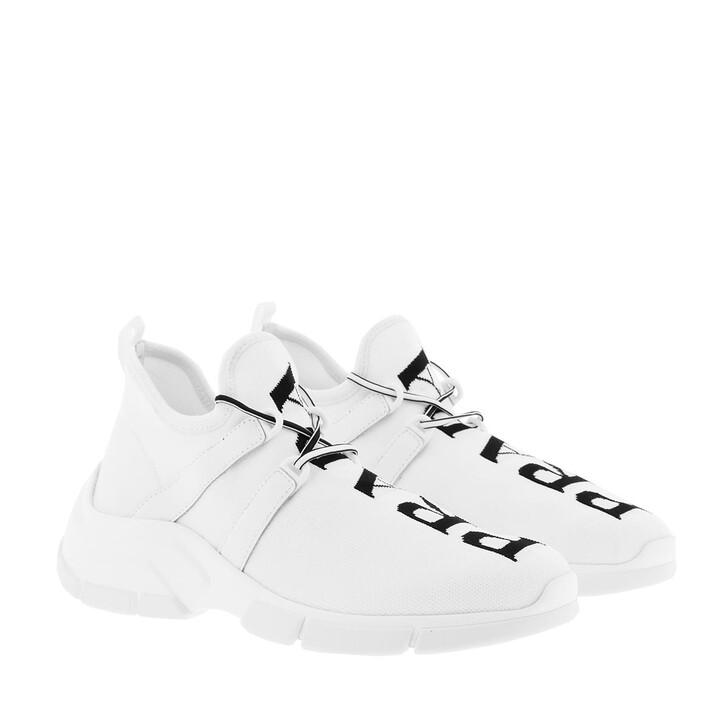 Schuh, Prada, Calzino Sneakers White/Black