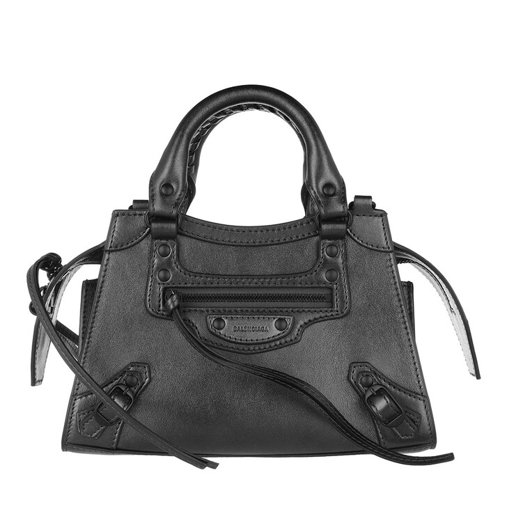 Handtasche, Balenciaga, Neo Classic Mini Top Handle Bag Leather Gun Metal