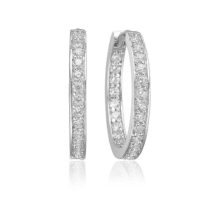 Ohrring, Sif Jakobs Jewellery, Corte Earrings White Zirconia 925 Sterling Silver