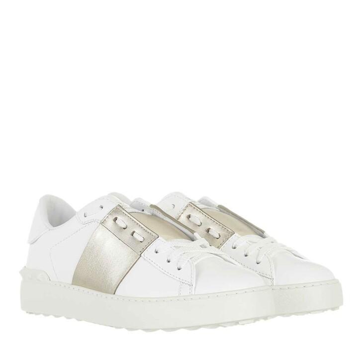 shoes, Valentino Garavani, Rockstud Sneaker White Gold
