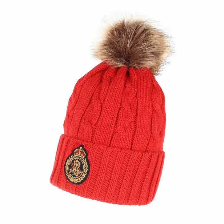 hats, Ralph Lauren, Beanie Hat Lipstick Red