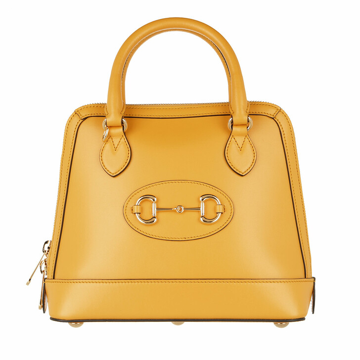Handtasche, Gucci, Horsebit Small Top Handle Bag Yellow