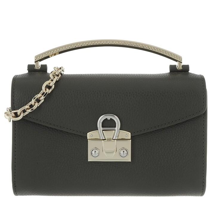 Handtasche, AIGNER, Mina Pochette Bag Mud Green