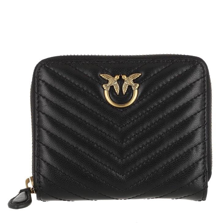 Geldbörse, Pinko, Taylor Wallet Zip Around M V Q Black