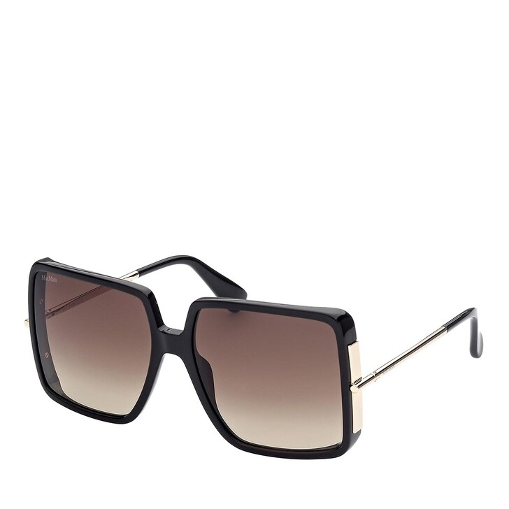 Sonnenbrille, Max Mara, MM0003 Shiny Black /Gradient Brown