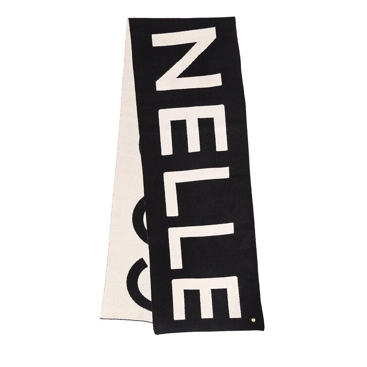 scarves, Coccinelle, Scarf 34 X 200  Noir/Lamb.Whi.
