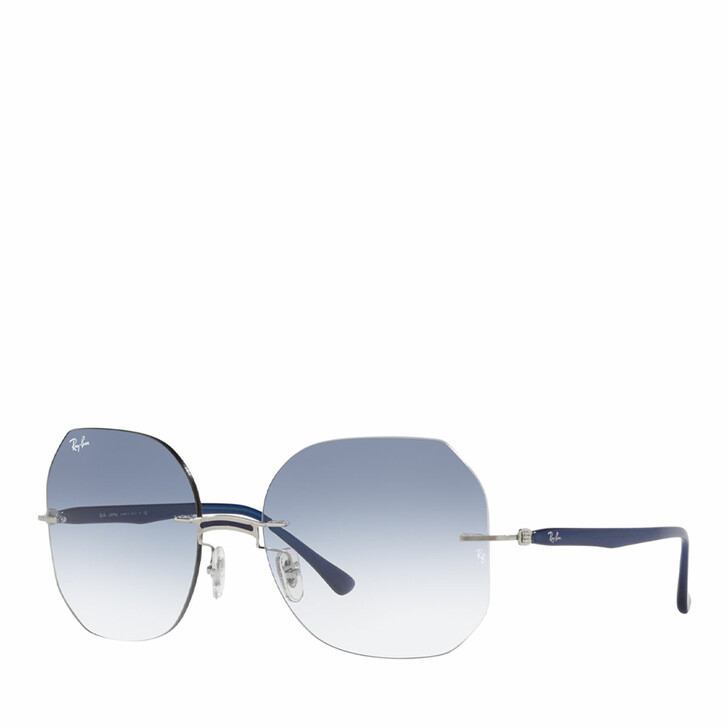 sunglasses, Ray-Ban, 0RB8067 BLUE ON SILVER