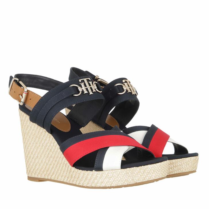 Schuh, Tommy Hilfiger, Essential High Wedge Sandals Multicolor