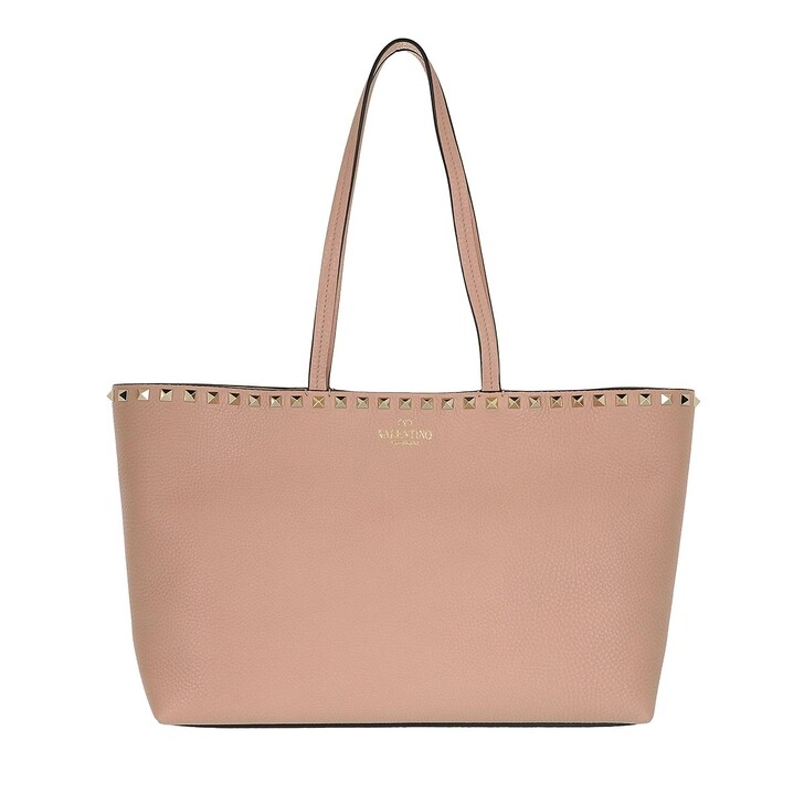 Handtasche, Valentino Garavani, Rockstud Shopping Bag Calfskin Poudre