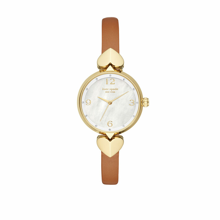 Uhr, Kate Spade New York, Hollis Luggage Leather Watch Brown
