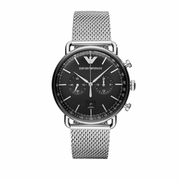 Uhr, Emporio Armani, AR11104 Mens Dress Watch Black/Silver