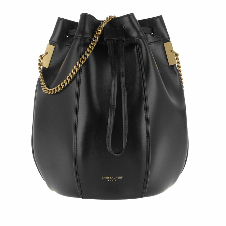 Handtasche, Saint Laurent, Talitha Small Bucket Bag Smooth Leather Black