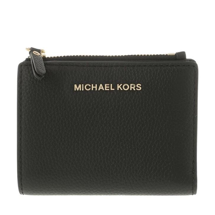 Geldbörse, MICHAEL Michael Kors, Medium Snap Billfold Wallet  Leather Black